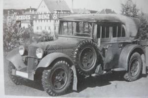 Mercedes-Kübelsitzer Baujahr 1937